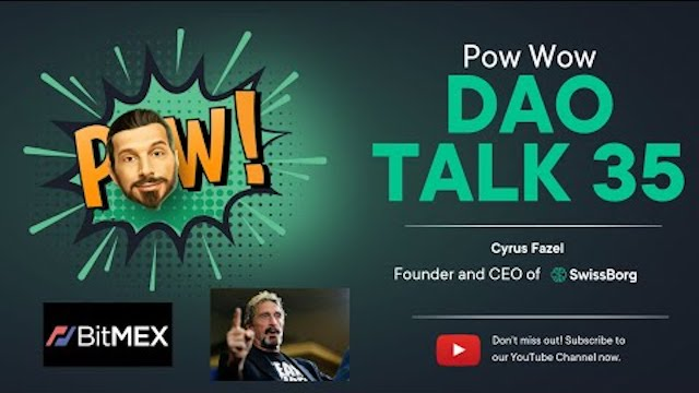 SwissBorg DAO Talk Pow Wow 35